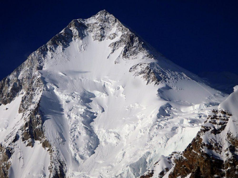 Horní část jihozápadní stěny Gasherbrum I